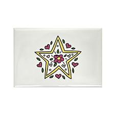 Floral Star Magnets