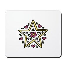 Floral Star Mousepad