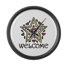 Welcome Large Wall Clock