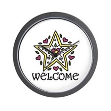 Welcome Wall Clock