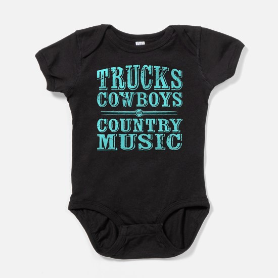 Trucks, Cowboys, and Country Music Baby Bodysuit