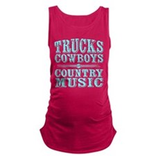 Trucks, Cowboys, and Country Music Maternity Tank