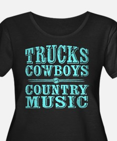 Trucks, Cowboys, and Country Music Plus Size T-Shi