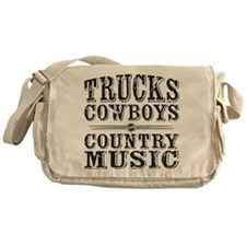 Trucks, Cowboys, and Country Music Messenger Bag