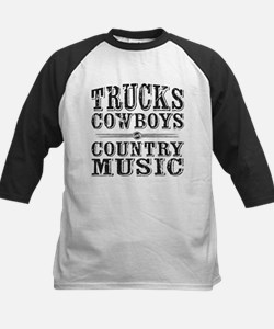 Trucks, Cowboys, and Country Music Baseball Jersey