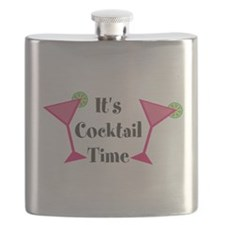Its Cocktail Time Flask