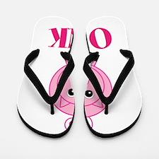 OINK Cute Pink Pig Flip Flops
