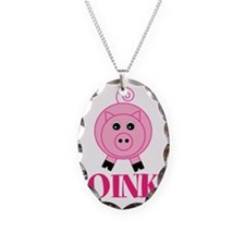 OINK Cute Pink Pig Necklace