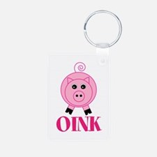 OINK Cute Pink Pig Keychains