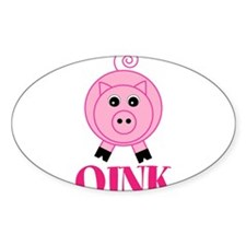 OINK Cute Pink Pig Decal