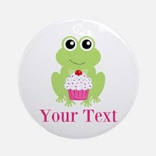Personalizable Cupcake Frog Ornament (Round)