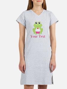 Personalizable Cupcake Frog Women's Nightshirt