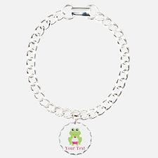 Personalizable Cupcake Frog Bracelet