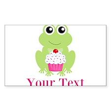 Personalizable Cupcake Frog Decal