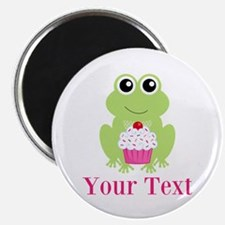 Personalizable Cupcake Frog Magnets