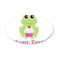 Personalizable Cupcake Frog Wall Decal