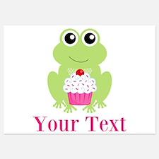 Personalizable Cupcake Frog Invitations