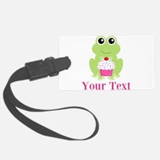 Personalizable Cupcake Frog Luggage Tag