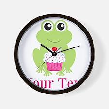 Personalizable Cupcake Frog Wall Clock
