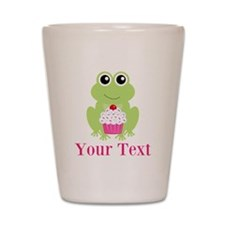 Personalizable Cupcake Frog Shot Glass
