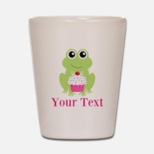 Personalizable Cupcake Frog Shot Glass