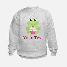 Personalizable Cupcake Frog Sweatshirt