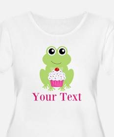 Personalizable Cupcake Frog Plus Size T-Shirt
