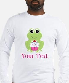 Personalizable Cupcake Frog Long Sleeve T-Shirt