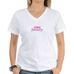 Due In Janury Women's V-Neck T-Shirt