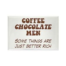 Coffee Chocolate Men Rectangle Magnet