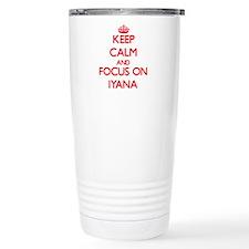 Keep Calm and focus on Iyana Travel Mug