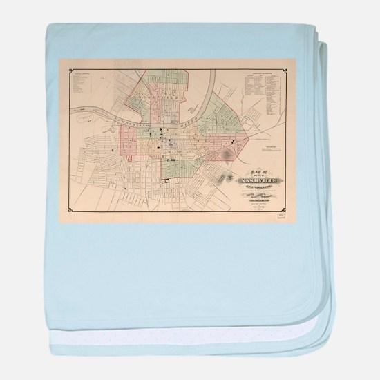 Vintage Map of Nashville Tennessee (1 baby blanket