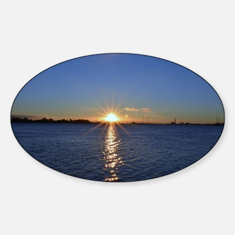 Sunrise at Antioch Sticker (Oval)