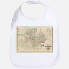 Vintage Map of Nashville Tennessee (1877) Baby Bib