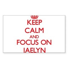 Keep Calm and focus on Jaelyn Decal