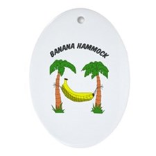 Banana Hammock Oval Ornament