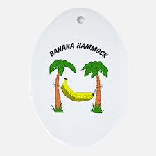 Banana Hammock Oval Ornament