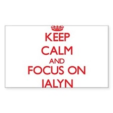 Keep Calm and focus on Jalyn Decal