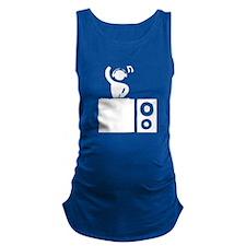 DJ Booth Maternity Tank Top