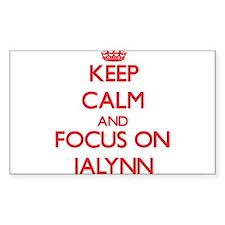 Keep Calm and focus on Jalynn Decal