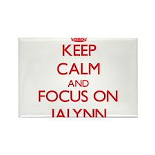 Keep Calm and focus on Jalynn Magnets