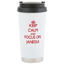 Keep Calm and focus on Janessa Travel Mug