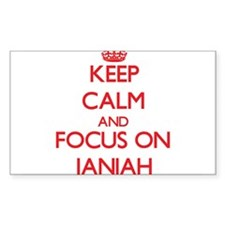 Keep Calm and focus on Janiah Decal