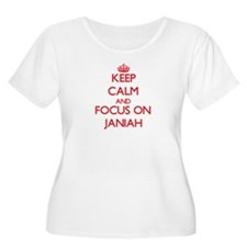 Keep Calm and focus on Janiah Plus Size T-Shirt