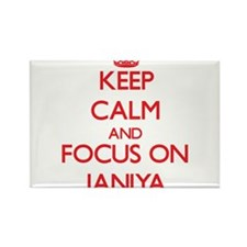 Keep Calm and focus on Janiya Magnets