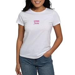 Due In June - Pink Women's T-Shirt