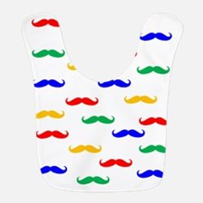 Colorful Mustaches Bib