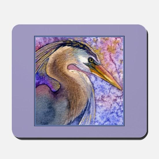 Great Blue Heron Watercolor Mousepad