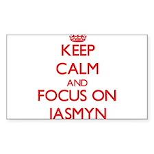 Keep Calm and focus on Jasmyn Decal