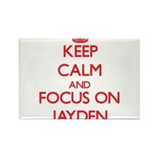 Keep Calm and focus on Jayden Magnets
